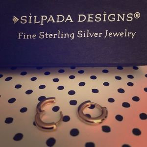 NWT SILPADA Rose Gold Earrings with snap post